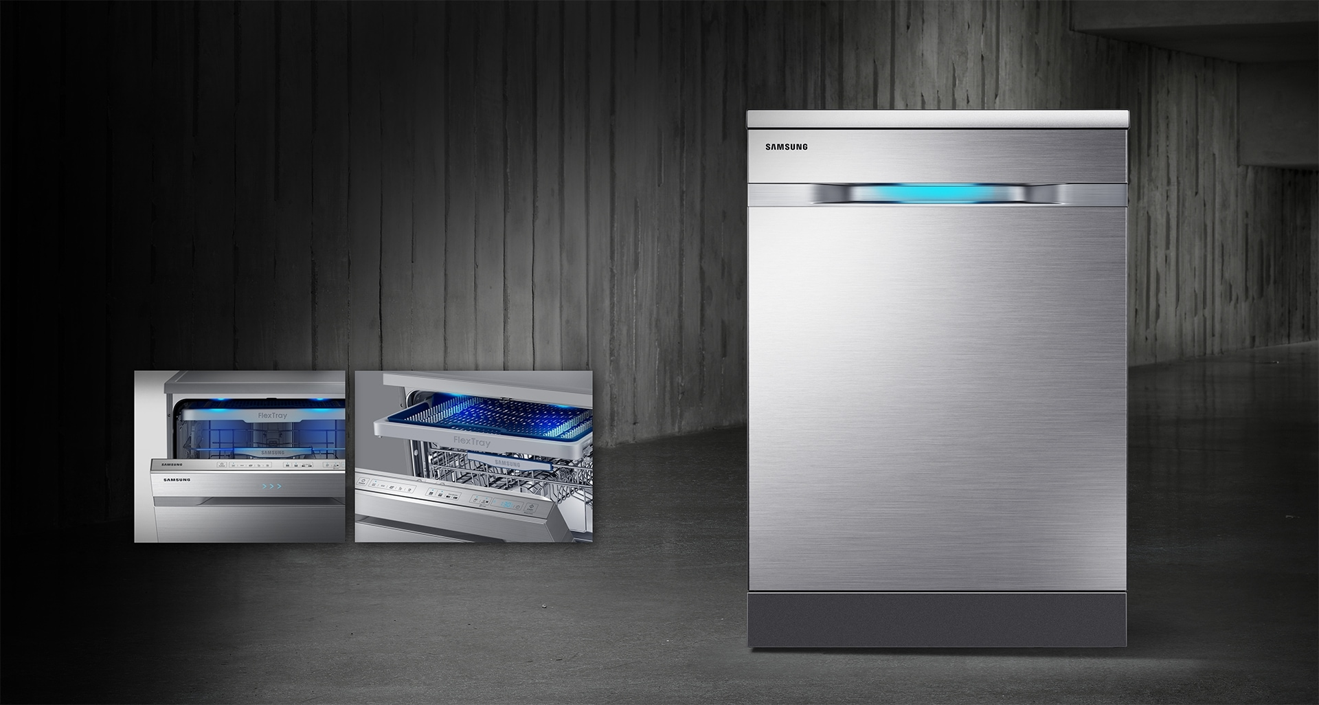 Samsung Express 60 Cycle - Inside the Dishwasher