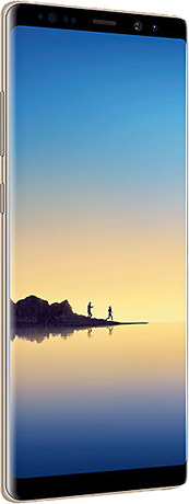 Back view of Note8 in Gold