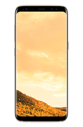 Front view of Galaxy S8 in Orchid gray
