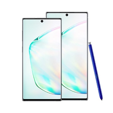 A Samsung Galaxy Note10 and Note10+ product image