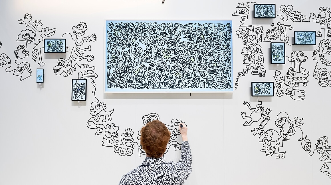 "Samsung Electronics and Sam Cox (aka ""Mr. Doodle"") have come together to showcase a special collaboration of technology and art."
