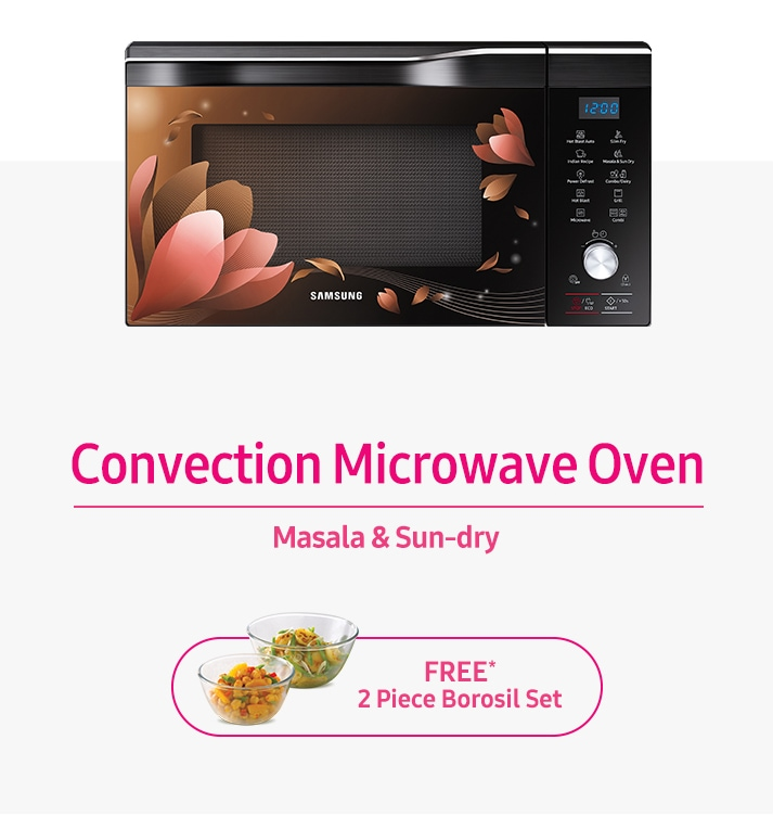 Samsung Convection Microwave Oven - Free Borosil Set