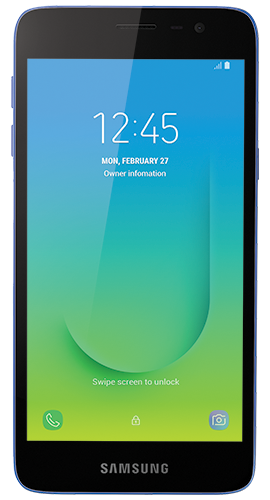 Galaxy J8 in Blue Colour - Front View