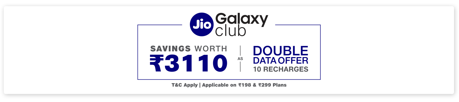 Jio Double Data Offer - Samsung Galaxy M10