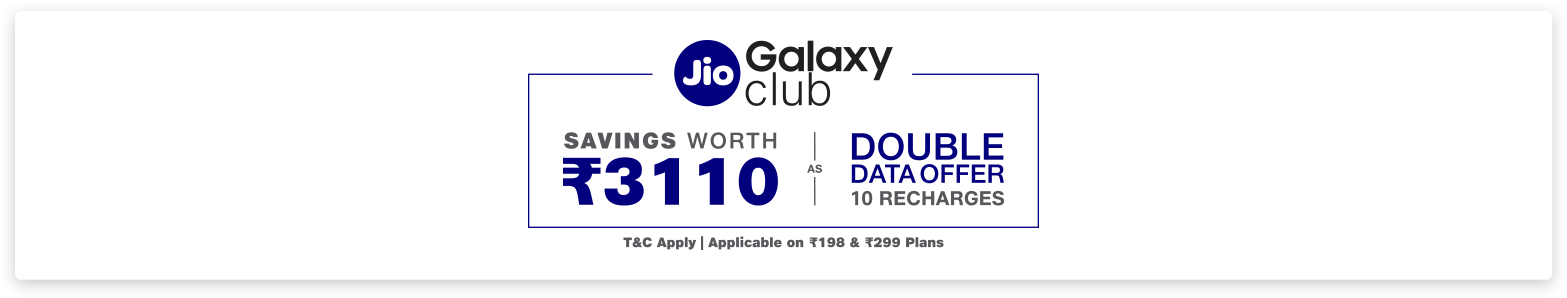 Jio Offer on Samsung Galaxy M Series Smartphones