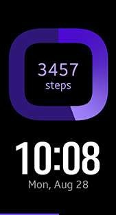 Samsung Gear Fit 2 Pro watch face in Purple color