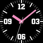 Intrepid watch face in pink