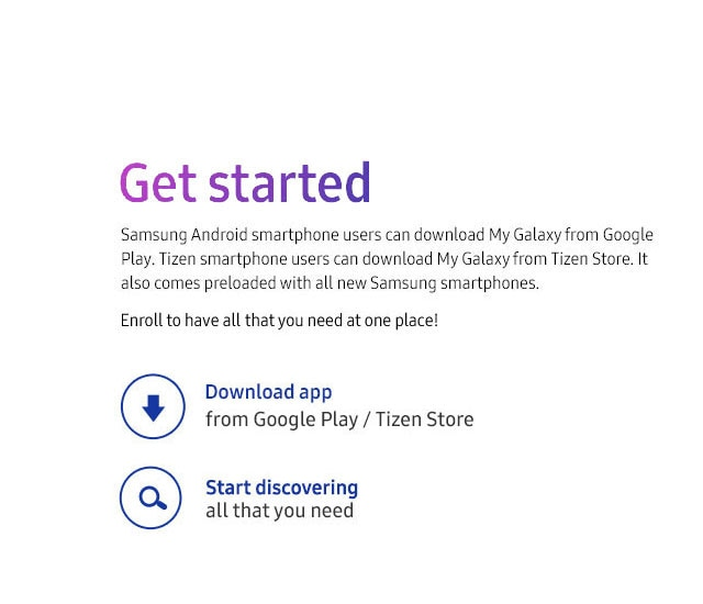 Samsung My Galaxy App - Services & Offers | Samsung India