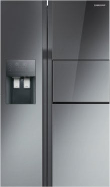 Latest Samsung Side by Side Fridge with Glass Finish
