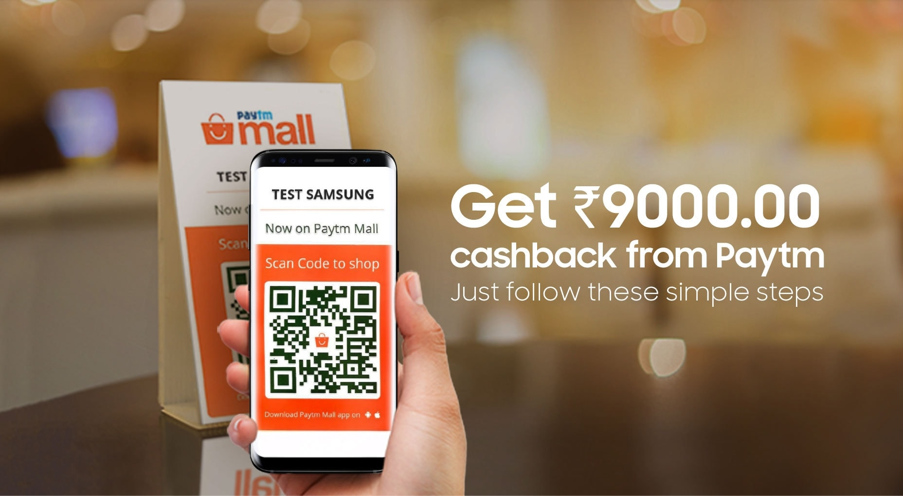 Buy Samsung Galaxy S9 and get upto Rs. 9000 Cashback on Paytm Mall