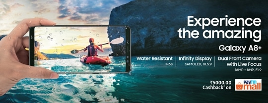 Experience the New Samsung A8+ at Samsung Exclusive Stores
