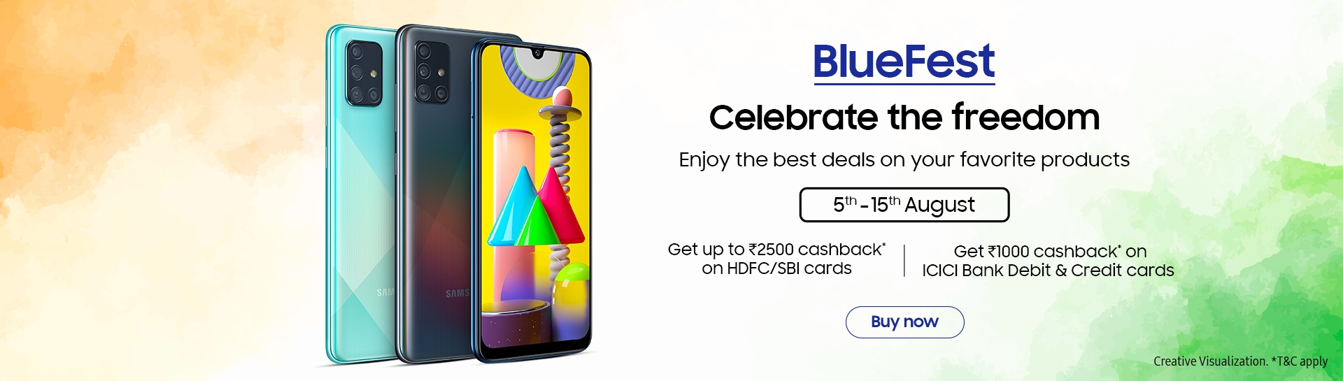Samsung BlueFest offers on Smartphone