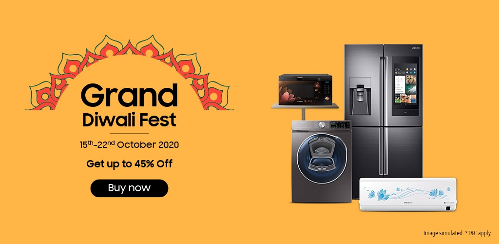 Samsung Grand Diwali Fest offers on Consumer Electronics