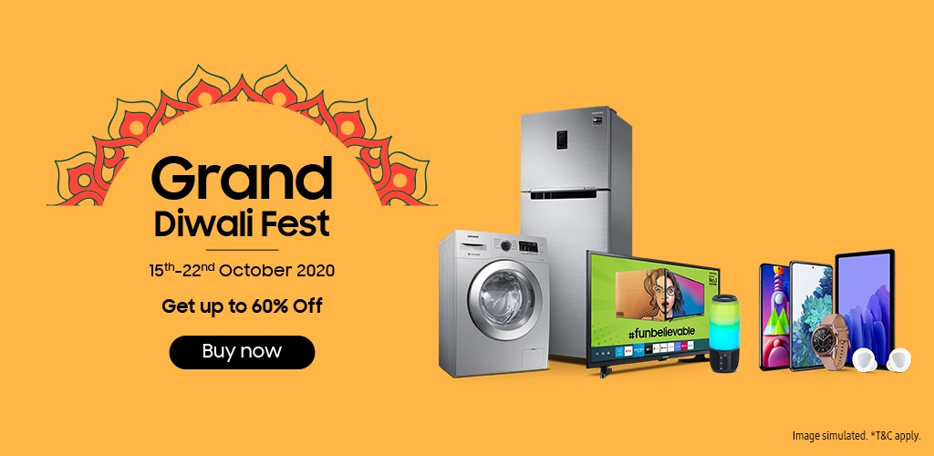 Samsung Grand Diwali Fest - 15th Oct to 22nd Oct 2020