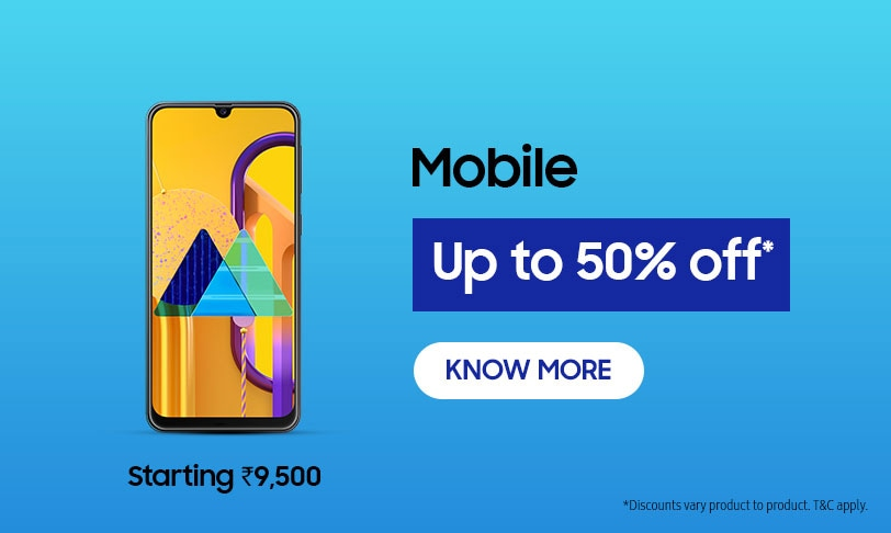 Up to 50% Off on Samsung Mobile
