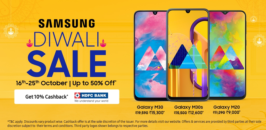Samsung 2019 Diwali Sale on Mobiles