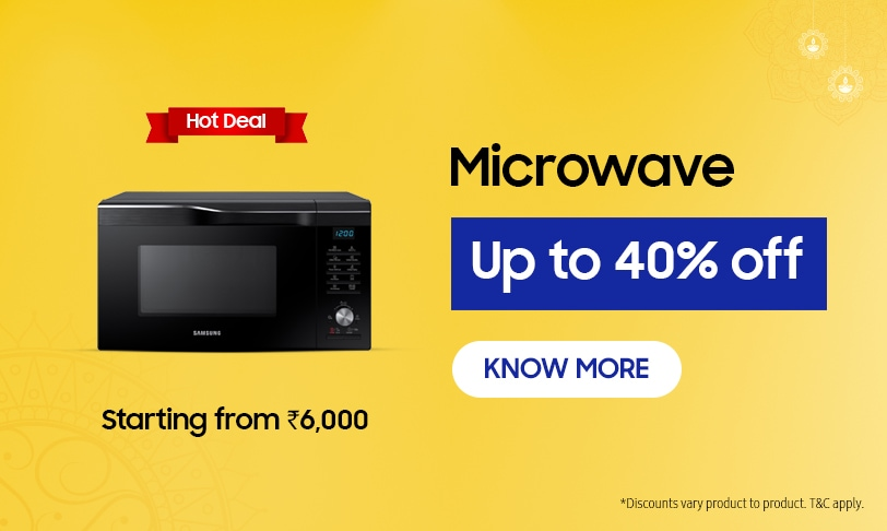 Up to 40% Off on Samsung Microwave