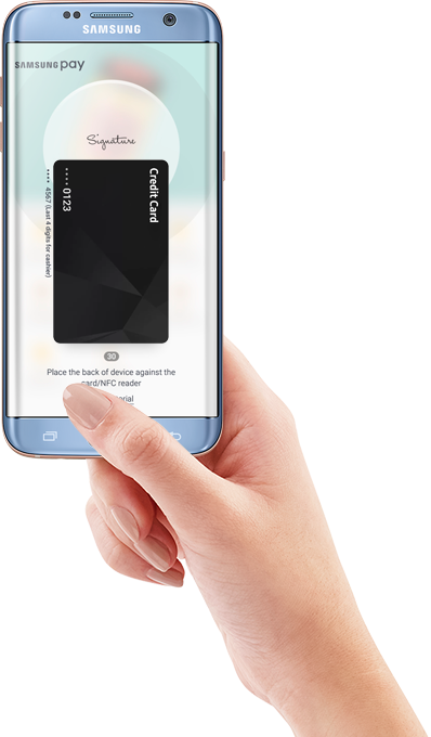 how to pay with samsung phone