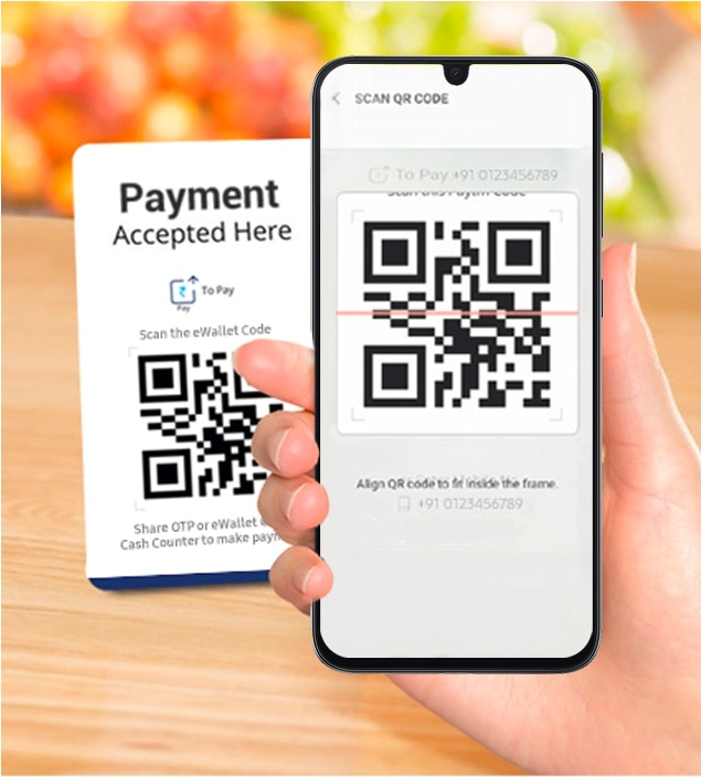 Mobile wallet payments with Samsung Pay mini