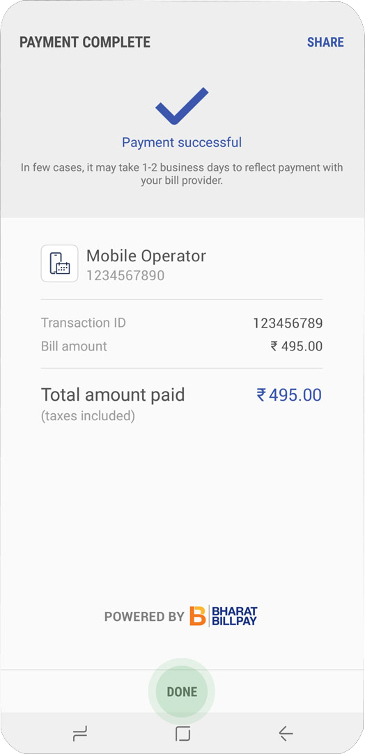 Learn how to pay bill using Samsung Pay