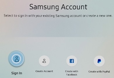 How to Sign in to a Samsung account from Samsung Smart TV