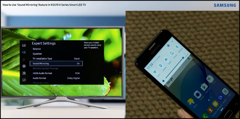 K Series TV : How to do the sound mirroring? | Samsung