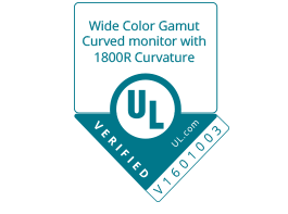 Verification mark of UL of for Samsung curved monitor CF591