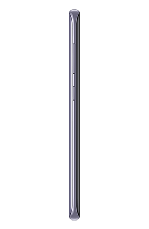 Left side view of Galaxy S8 in Orchid gray