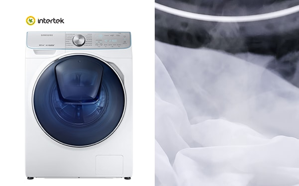 Samsung washer with water jet technology activates Eco Drum Clean that can be washing machine drum cleaner to keep washing machine clean.