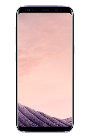 Vista frontal del Galaxy S8 Orchid Gray