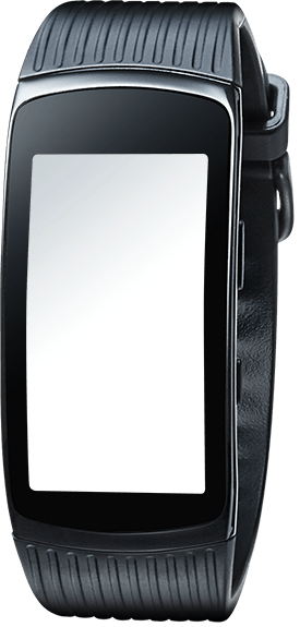 Gear Fit2 Pro in black seen from the front