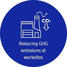 An icon for the reduction of the GHG emissions at worksites