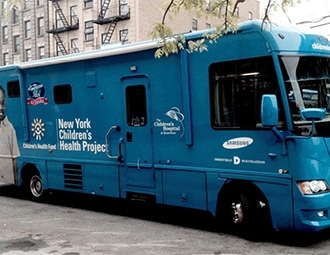 This is a picture of mobile health care center vehicles.