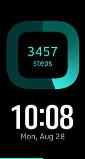 Step Count watch face in sky blue