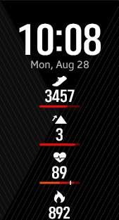 Fitness Pro 4 watch face in red