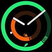 POP watch face in green