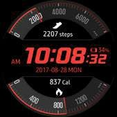Activity Racer watch face in red