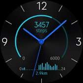 Active Rhythm watch face in blue