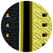 Close-up of Hybrid Sport strap in yellow