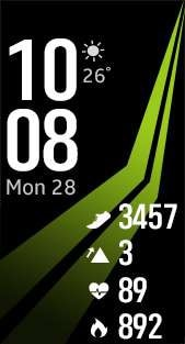 Fitness Pro 1 watch face in lime