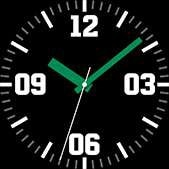 Intrepid watch face in green