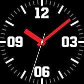 Intrepid watch face in red