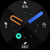 Fresh watch face in orange