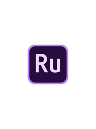 The Adobe Premiere Rush purple icon logo