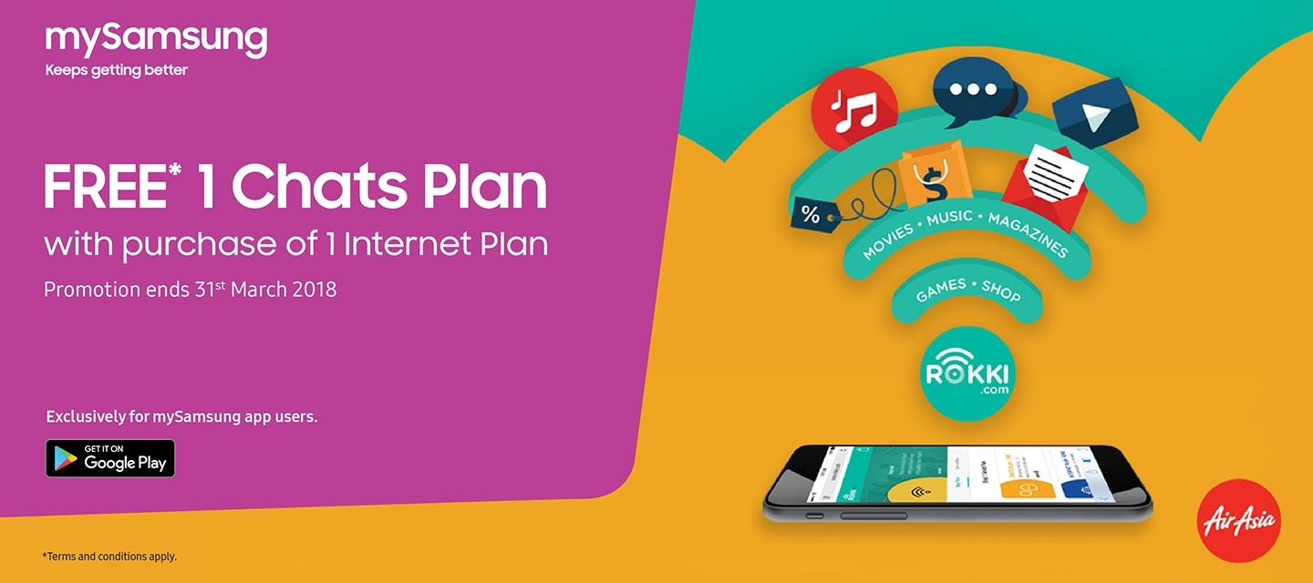 FREE*  1 Chats Plan with mySamsung