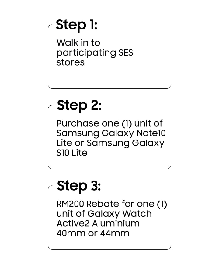 Samsung Galaxy Note10 Lite and S10 Lite Purchase with Purchase Promotion