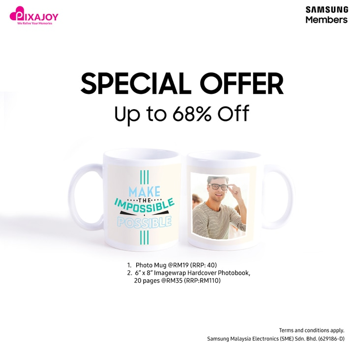 Grab Photo Mug and Imagewrap Photobook with special price!