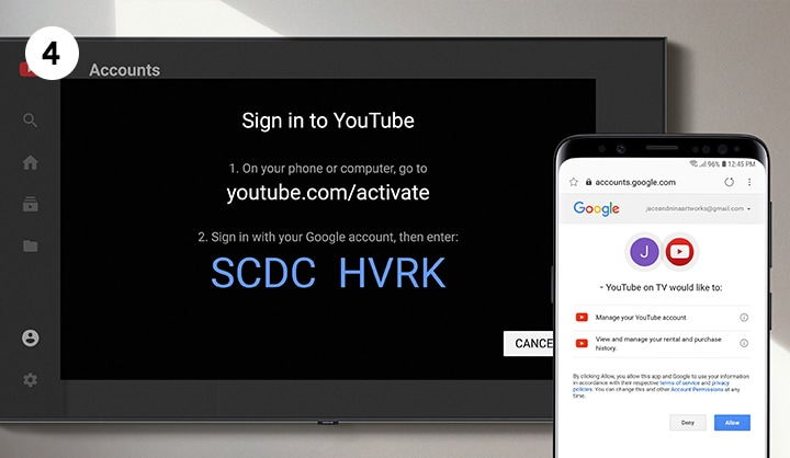 Watch Youtube On Smart Tv Steps For Youtube Activation Samsung Malaysia