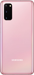 Galaxy S20 in Cloud Pink seen from the rear