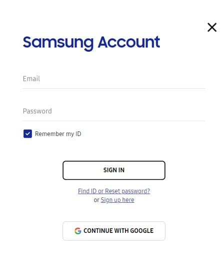 At your service samsung member account log in